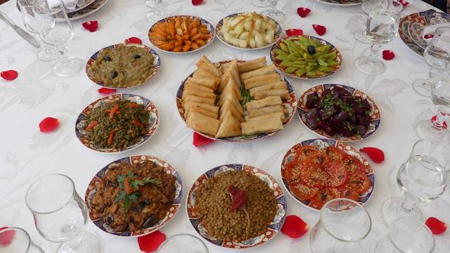 Riad Kniza, Marrakesch - Marokkanische Vorspeisen