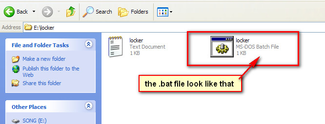 lock a folder or file without any software 07