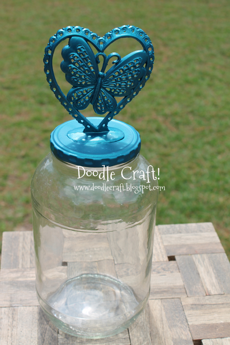 Doodlecraft Upcycled Pickle Jar And Cake Stand Updo
