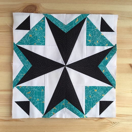Lisbon Tile Block designed by Jo Avery of MyBearpaw, it's the 2018 Aurifil Designer of the Month Block