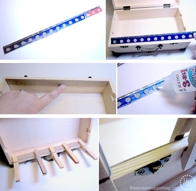 Aluminum foil box teeth for washi tape storage box
