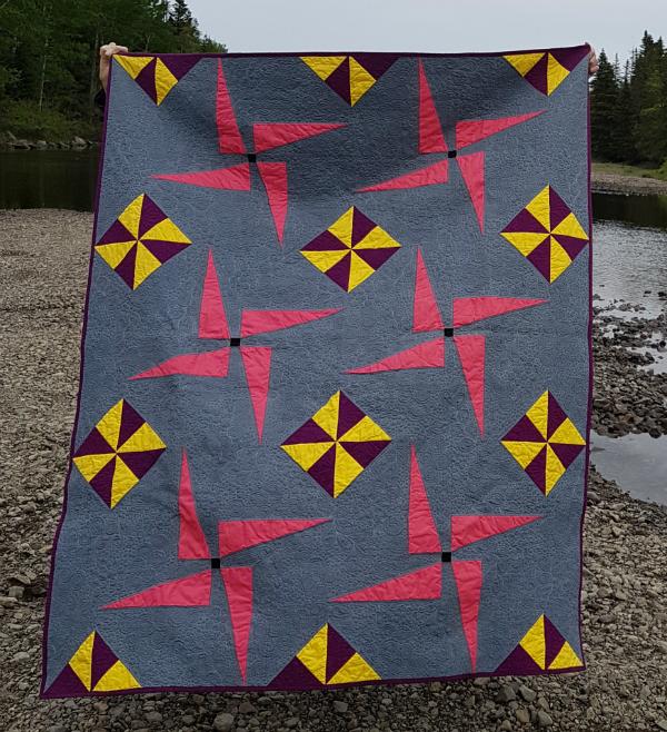 Pinwheel Whirl quilt pattern   DevotedQuilter.blogspot.com