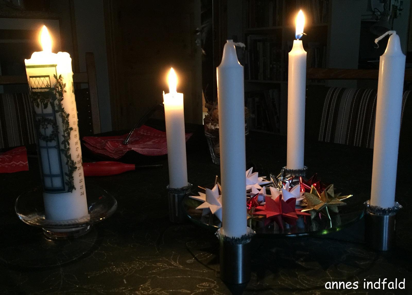annes indfald 4 december og 2 s ndag i advent lys inde. Black Bedroom Furniture Sets. Home Design Ideas