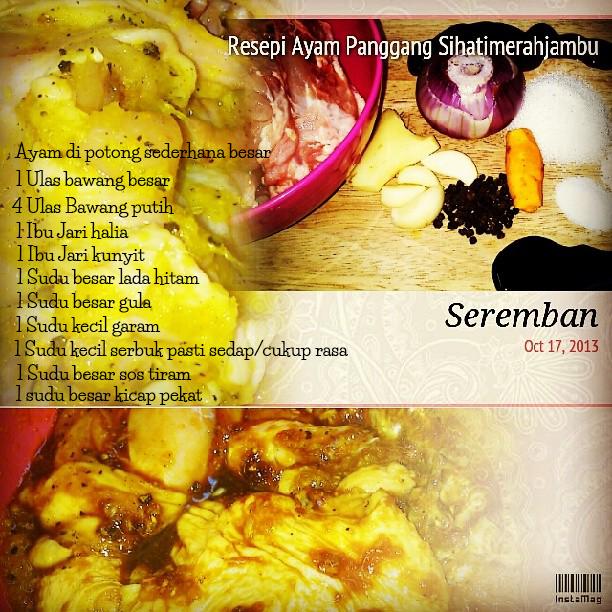 Resepi : Ayam Panggang Sihatimerahjambu