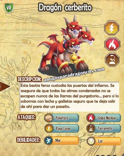 imagen de las caracteristicas del dragon cerberito