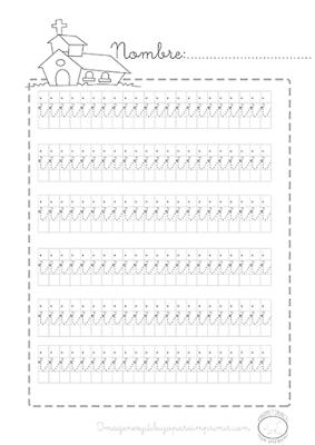 Caligrafia para imprimir vocal i