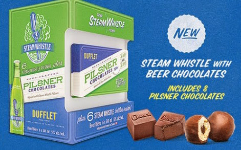 Steam Whistle Pilsner gift pack with chocolates