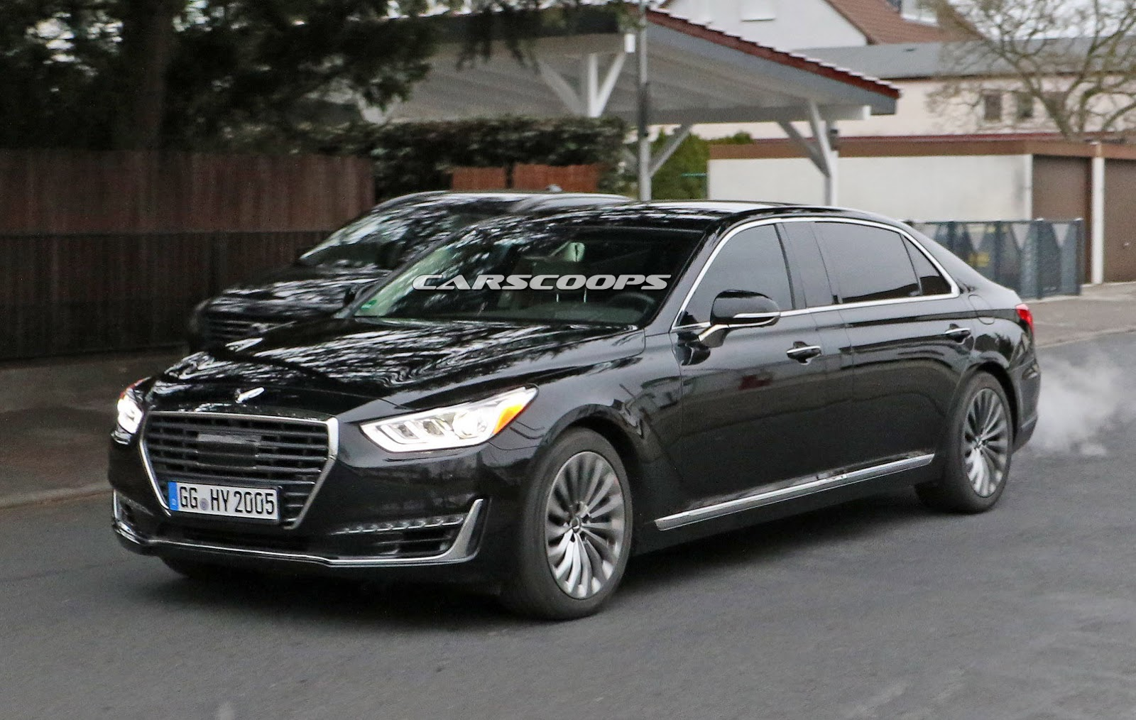 new genesis g90 gets a maybach style long wheelbase version carscoops. Black Bedroom Furniture Sets. Home Design Ideas
