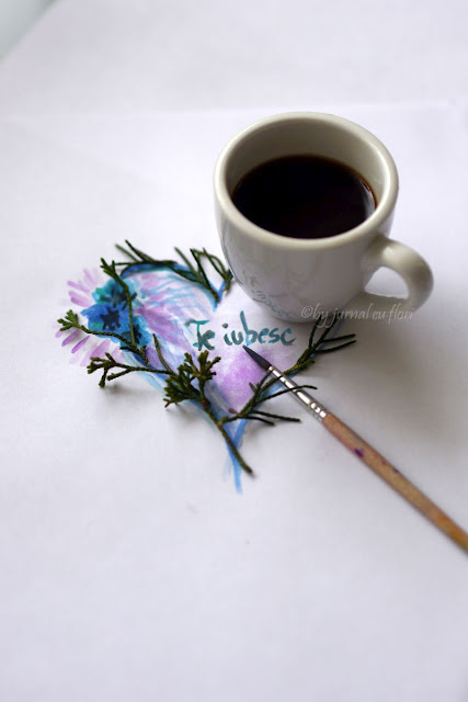 coffee cup flower heart valentine day
