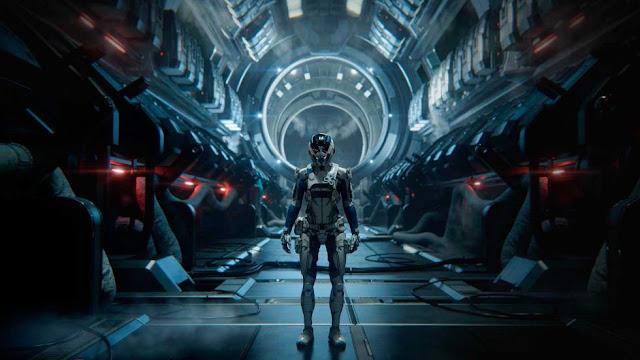 Interior en una nave espacial en Mass Effect Andromeda, el videojuego de BioWare