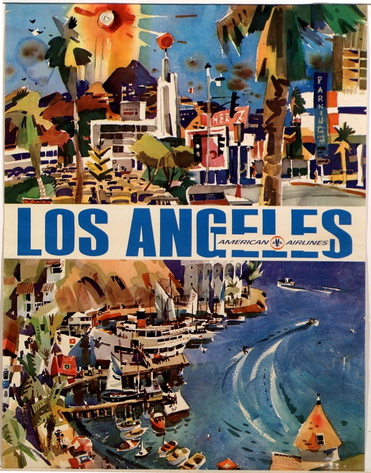 Experiencing Los Angeles Vintage Los Angeles Travel Posters - Los angeles posters vintage