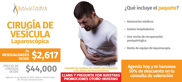 Precio Cirugia Vesicula laparoscopica Colecistectomia Guadalajara Mexico