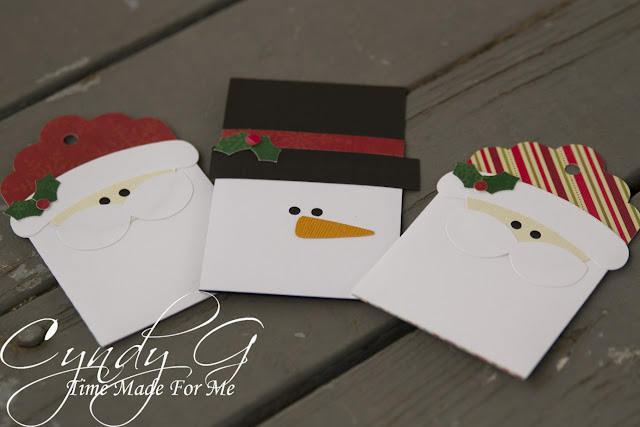 Santa and snowman gift card holders