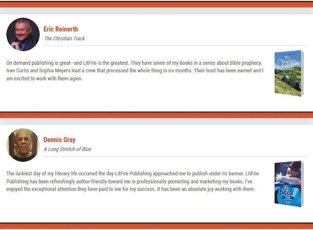 LitFire Publishing Authors Testimonials