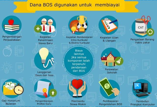 gambar 13 komponen penggunaan dana bos