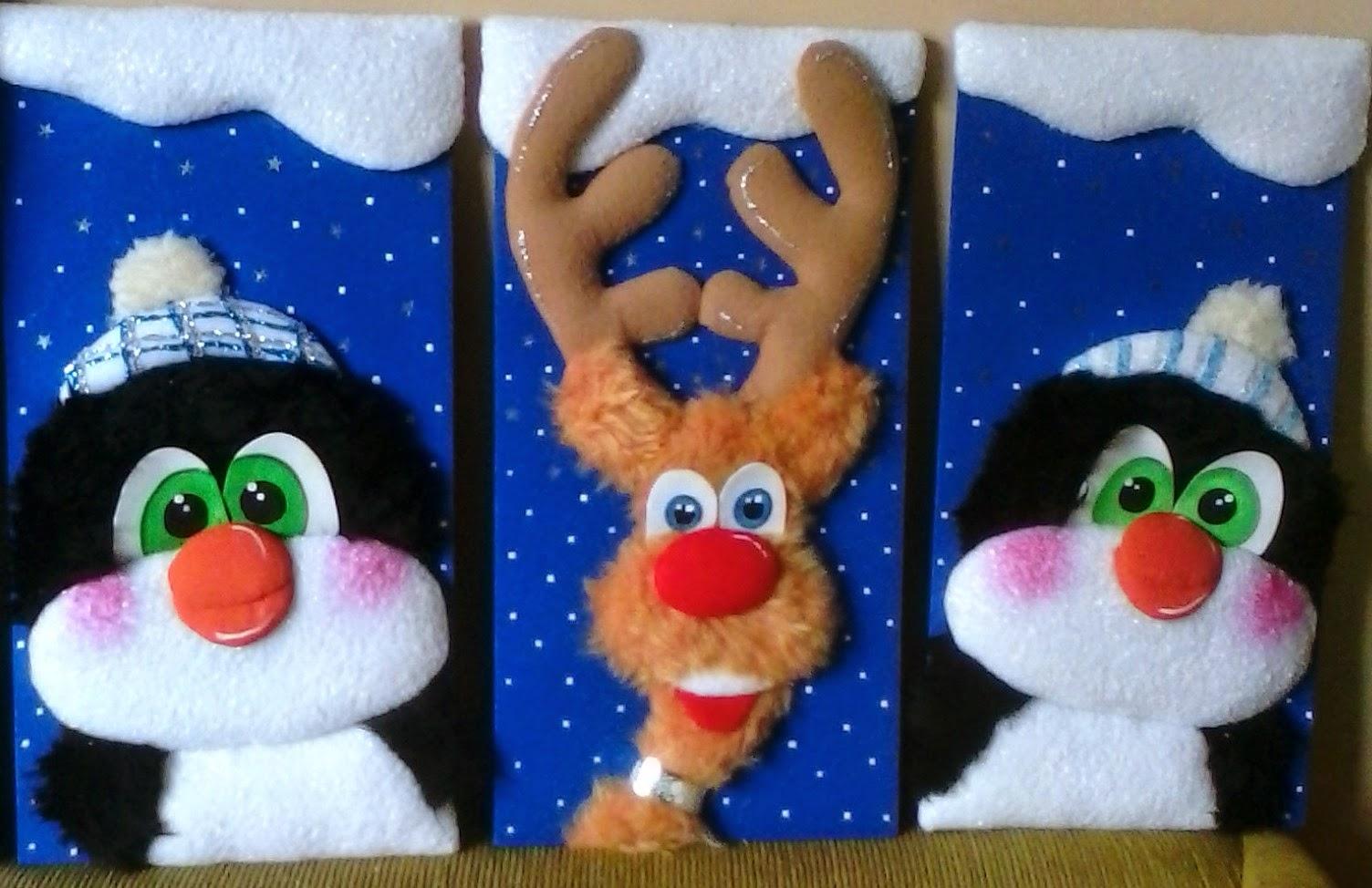Mardedi cuadros navide os en tela - Pintura en tela motivos navidenos ...