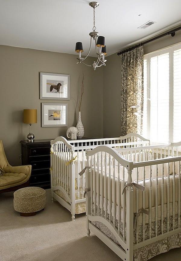 dormitorio en blanco gris bebé