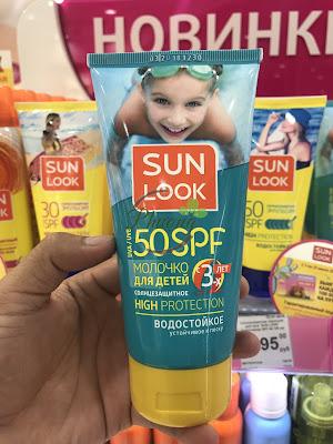 Bán kem chống nắng Sun Look của Nga dành cho trẻ em từ 3 tuổi với độ chống nắng 50SPF