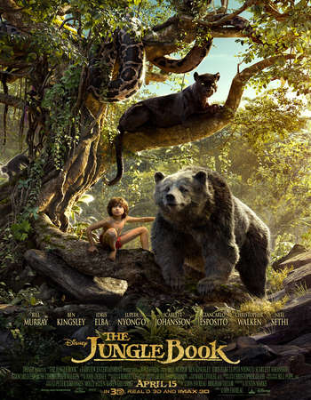 Poster Of The Jungle Book 2016 Dual Audio 720p HDTS [Hindi - English] Free Download Watch Online Worldfree4u