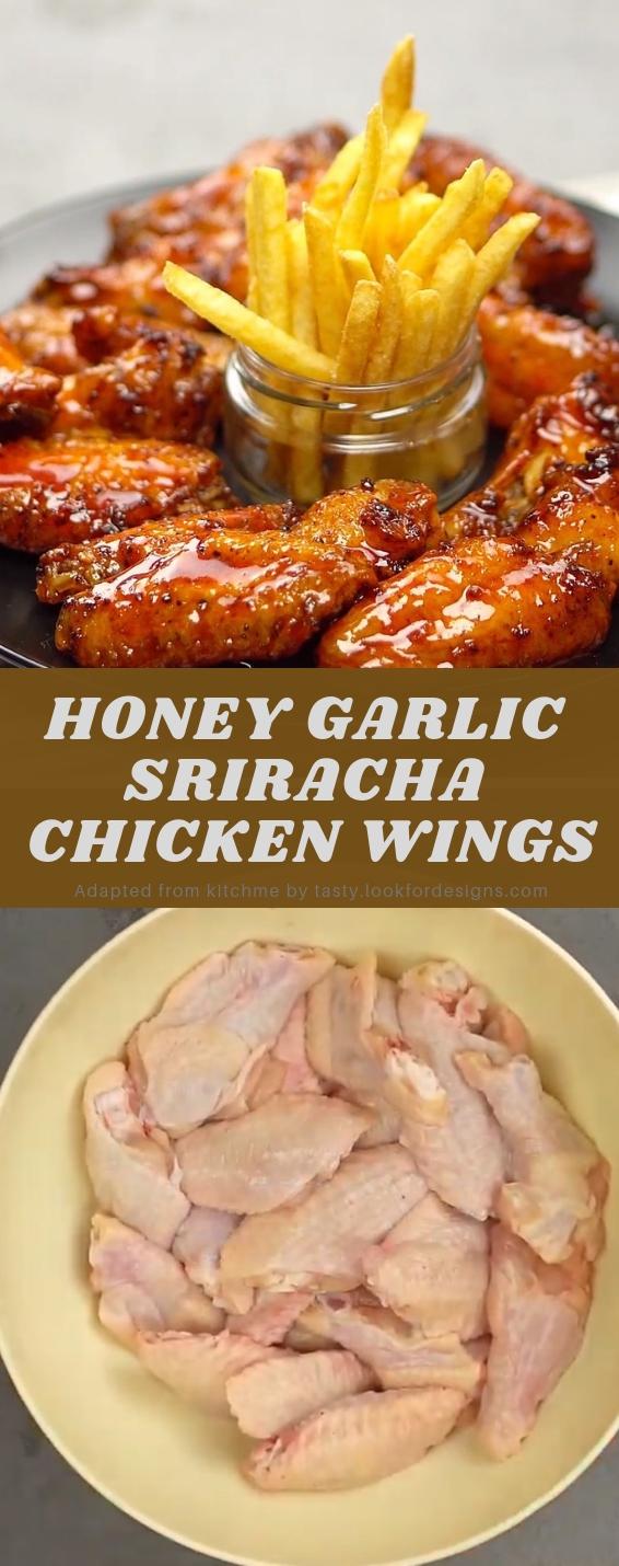 HONEY GARLIC SRIRACHA CHICKEN WINGS
