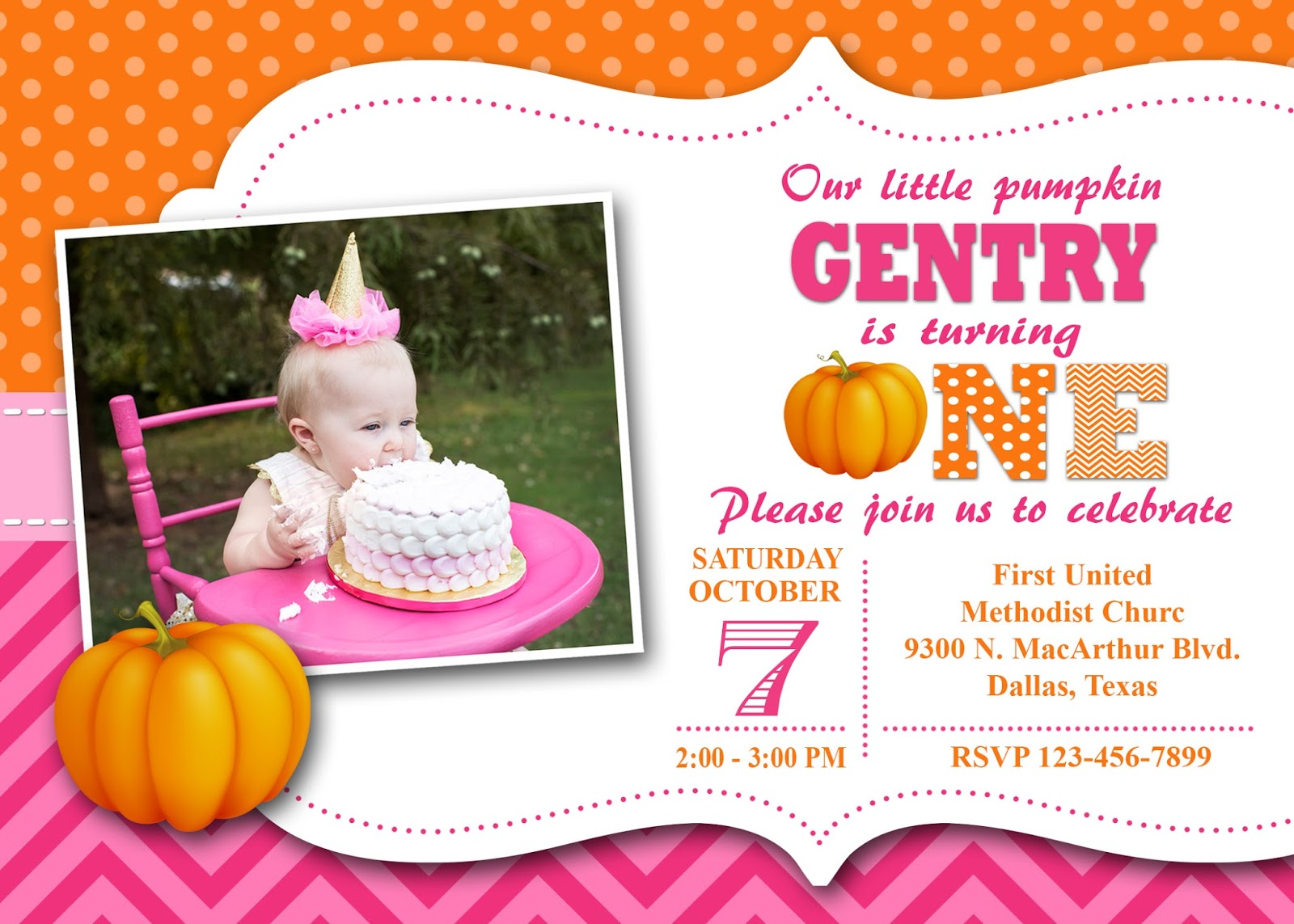 paper perfection our little pumpkin invitation