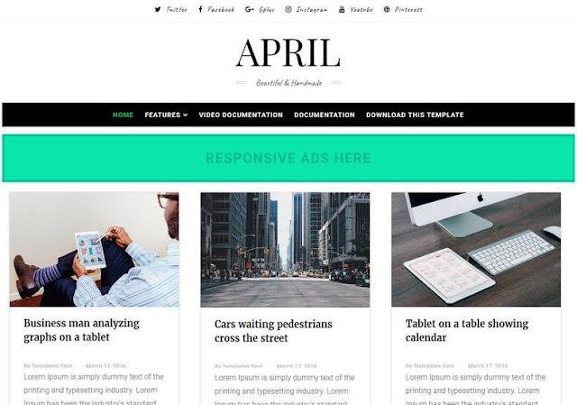 April Blogger Theme