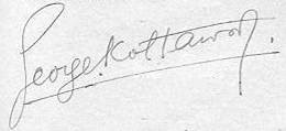 Firma del ajedrecista Georges Koltanowski