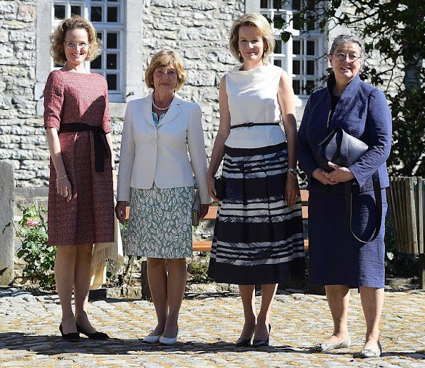 Queen Mathilde of Belgium, Hereditary Princess of Liechtenstein, Sophie, German Daniela Schadt, life partner of President Joachim Gauck and Swiss Katharina Schneider-Ammann, style royals