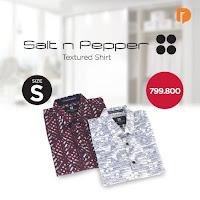 Dusdusan Salt N Pepper Textured Shirt Size S (Set of 2) ANDHIMIND
