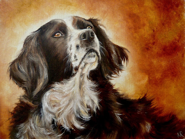 An Old Friend, oil painting of a collie dog
