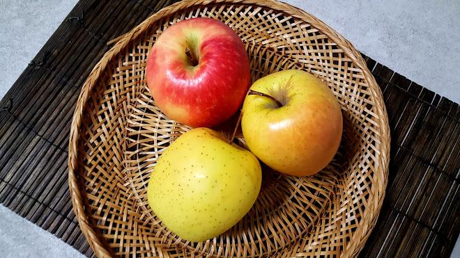 Les variétés de pommes par utilisation, ici Pink Lady, Golden et Pomme AOP du Limousin.