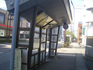 金沢のバス停
