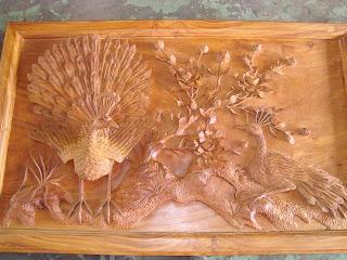 tranh gỗ gõ đỏ