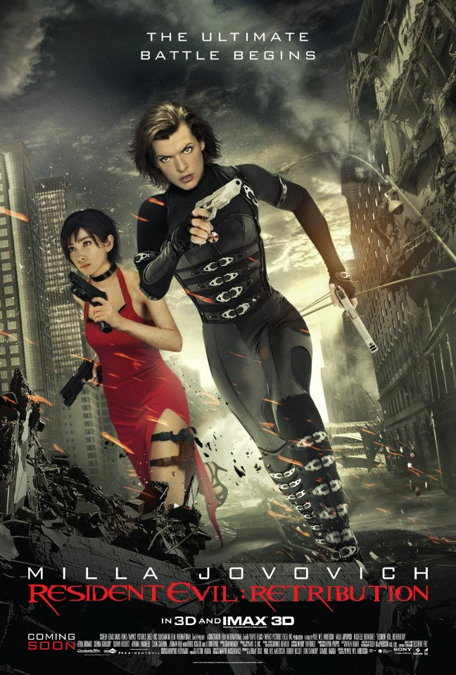 Ada Wong Can Hang In Your Room New Resident Evil Retribution Poster