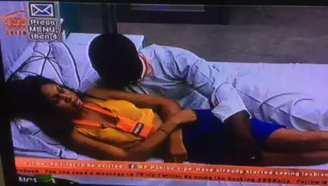 BBNaija's Bitto summoned to the dairy room after he gets too comfortable touching Princess on a bed (photos)