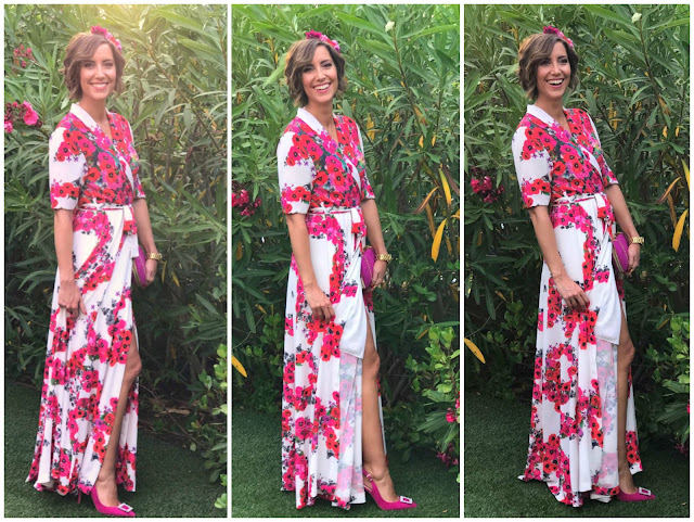 Fitness And Chicness-Look Invitada Boda Vestido Largo Flores-1