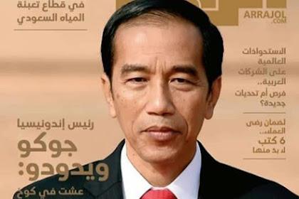 Foto Jokowi Jadi Sampul Majalah di Arab Saudi