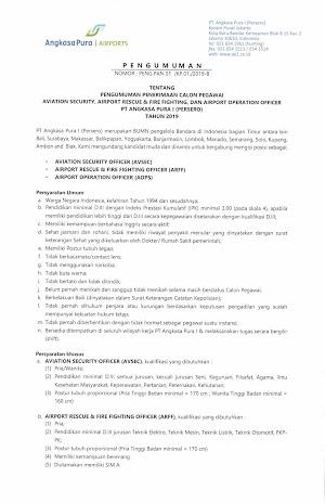 Rekrutmen PT Angkasa Pura I (Persero) Tahun 2019