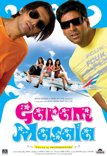 Poster of Garam Masala 2005 Full Hindi Movie 720p HDRip x264 Download