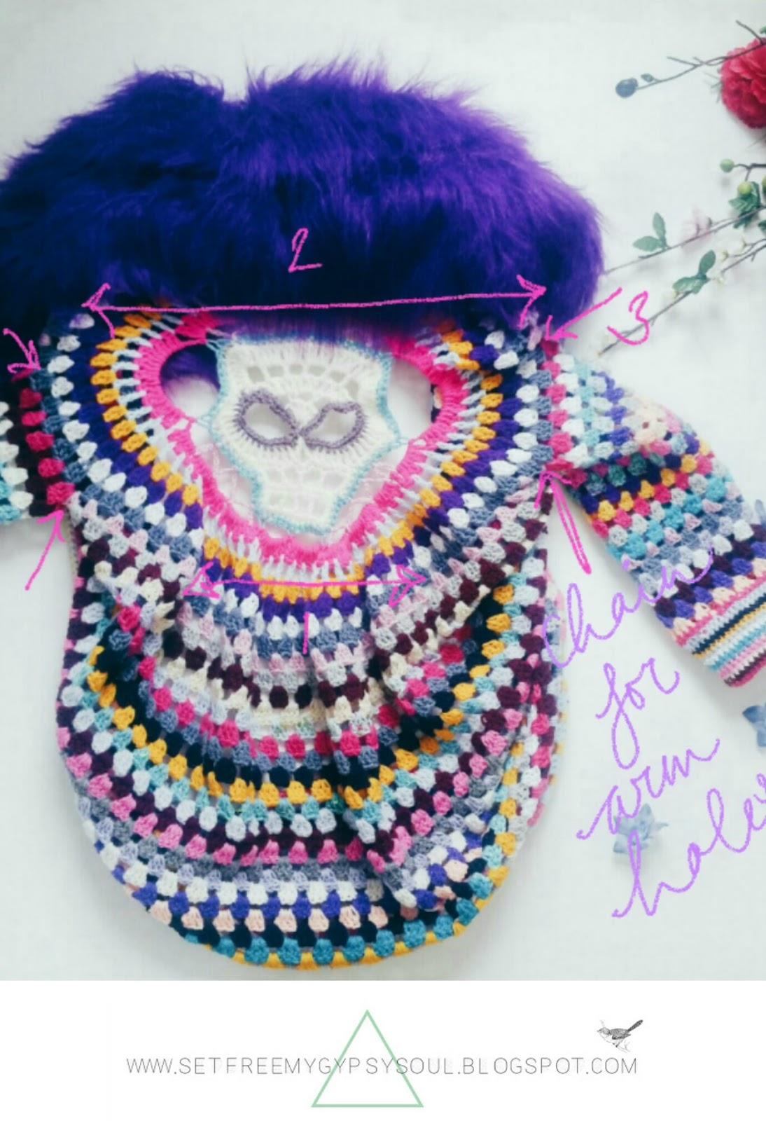 free crochet pattern sugar skull cardigan