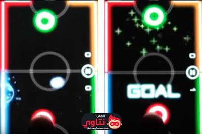 لعبة Glow Hockey