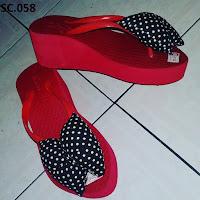 Sandal Branded Wanita (Sandal Carvella Tasik) Sandal Spon Tinggi