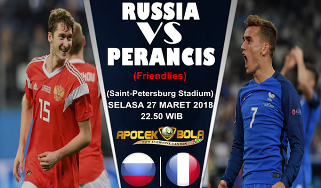Prediksi Rusia vs Prancis 27 Maret 2018