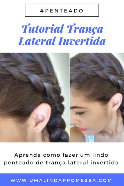 Tutorial trança lateral invertida