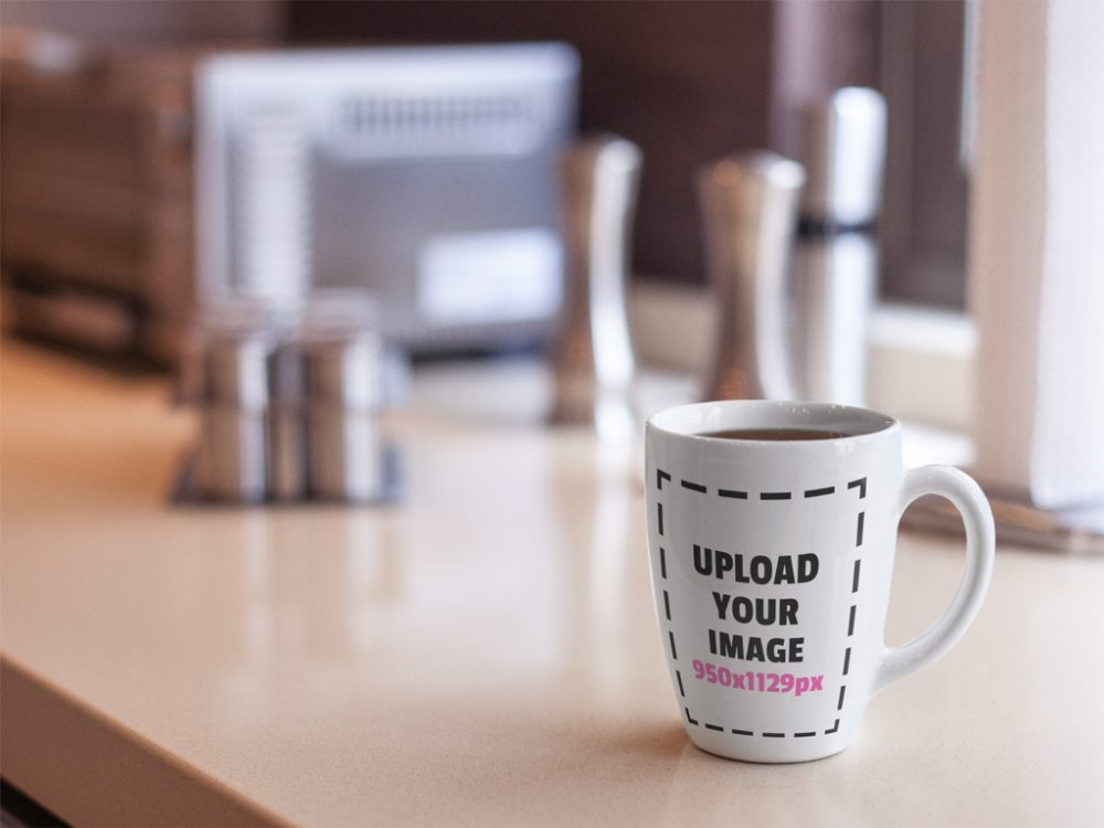 Mug on Kitchen Counter Mockup