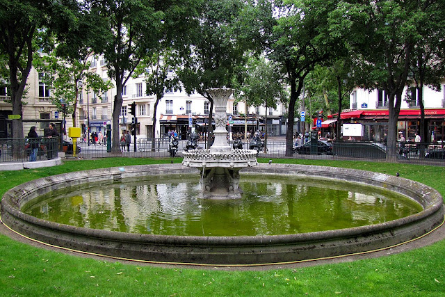 Fontaine de la place de La Madeleine by Gabriel Davioud and Francois-Theophile Murget, Square Santiago-du-Chili, Paris