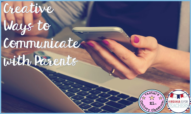 This blog post shows three ways for teachers to communicate with parents throughout the school year.