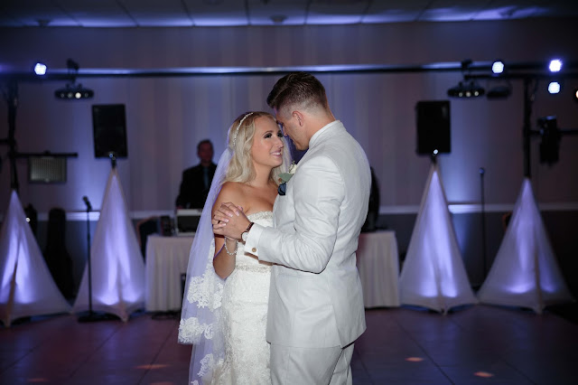 bride and groom first dance at Fern Hill Golf Course