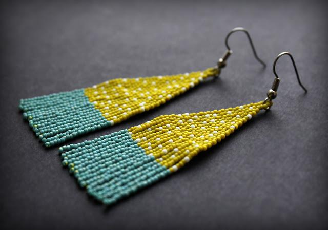 современные необычные серьги купить украшения из бисера в интернет магазине