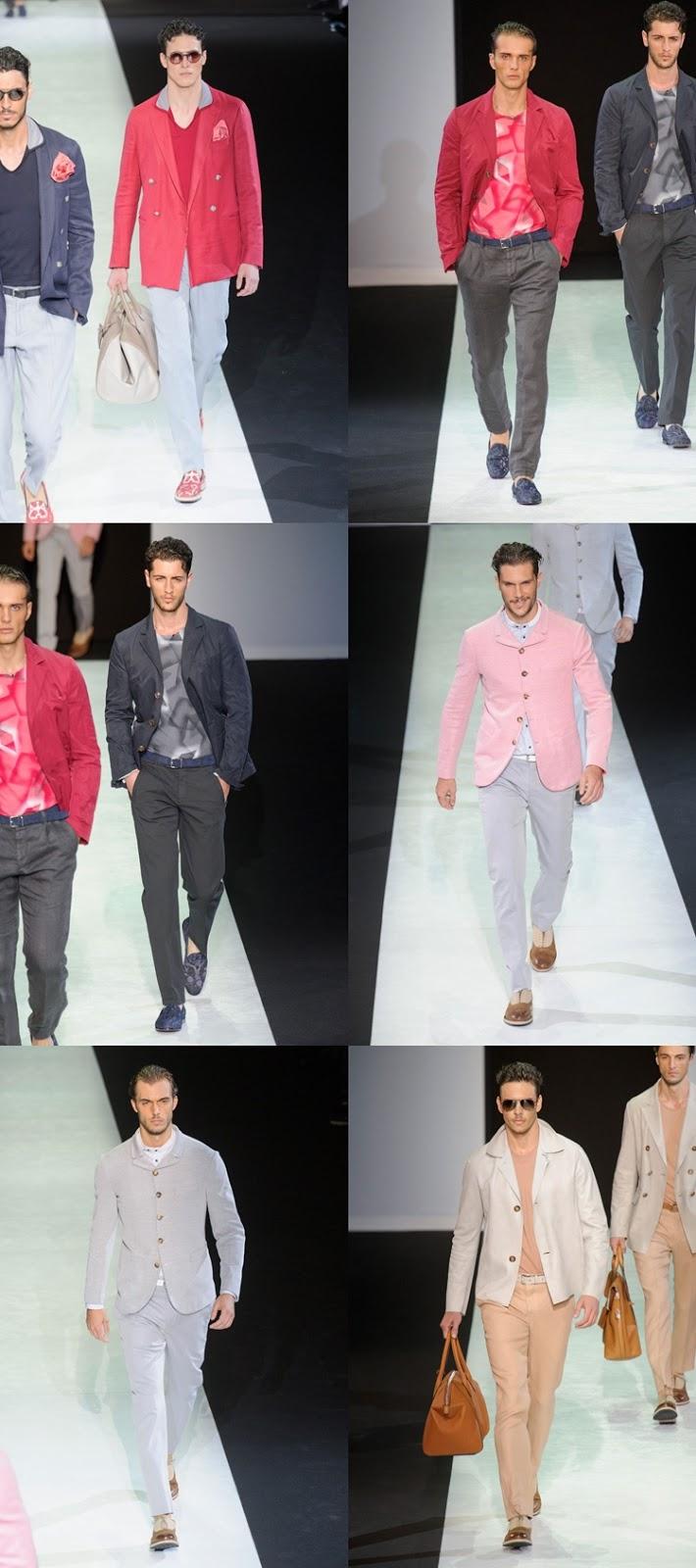 entire collection cheap price first look Milão: GIORGIO ARMANI Verão 2014 Masculino - ALEX CURSINO ...